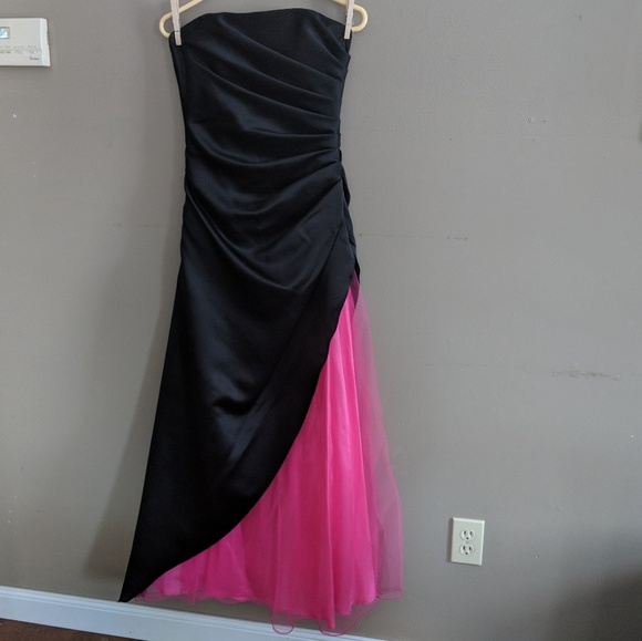 Ruched Prom Dress Evening Gown Made In Usa Euc Poshmark